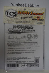 1752 TRAIN CONTROL SYSTEM - TCS /  ATLAS {WOW WDK-ATL-4}- DIESEL Version 4 CONVERSION KIT - HO Scale  YANKEEDABBLER PART # 745-1752