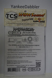 1751 TRAIN CONTROL SYSTEM - TCS /  ATLAS {WOW WDK-ATL-5}- DIESEL Version 4 CONVERSION KIT - HO Scale  YANKEEDABBLER PART # 745-1751