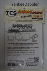 TRAIN CONTOL SYSTEMS (TCS) WALTHERS{WOW WSK-WAL-1} Proto2000 GENSTEAM Version 4 CONVERSION KIT - HO Scale  YankeeDabbler Part # 745-1920
