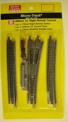 MICRO TRAINS / {99040915} 13-Degree Right  Remote Turnout   (SCALE=Z)  YANKEEDABBLER  PART #  = 489-99040915