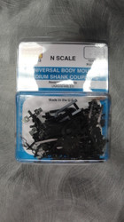 110003 MICRO TRAINS / {001 10 003}UNIVERSAL BODY MOUNT MED SHANK COUPLERS- (1016-10)  (SCALE=N)   - YANKEEDABBLER   PART #  = 489-110003