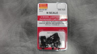 302051 MICRO TRAINS / {003 02 051} 4-WHEEL LIGHTWEIGHT PASSENGER CAR TRUCKS (1017)  (SCALE=N)   - YANKEEDABBLER   PART #  = 489-302051