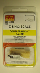 98800032 MICRO TRAINS / {98800032} Z & Nn3 SCALE COUPLER HEIGHT GAUGE Z SCALE-YANKEEDABBLER  PART #  = 489-98800032