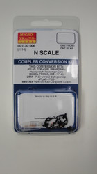 130006 MICRO TRAINS / {001 30 006} COUPLER CONVERSION KIT (1114)  (SCALE=N)    - YANKEEDABBLER  PART #  = 489-130006