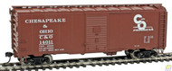 1691 Walthers Mainline / 40' 44 AAR Bxcr C&O#14011  (SCALE=HO)  Part # 910-1691