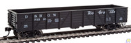 Walthers Mainline / 40' Drp-Btm Gon DRGW73310  (SCALE=HO)  Part # 910-5678