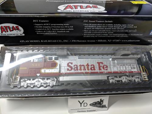 ATLAS 10002308 / Atlas Model Railroad Co. GE Dash 8-40CW #844 (ATSF Style) w/LokSound & DCC - Master(R) Gold (SCALE=HO Part # 150-10002308