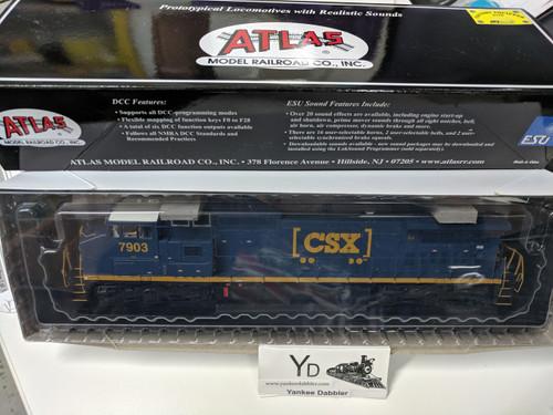 "ATLAS 10002313 / Atlas Model Railroad Co. GE Dash 8-40CW #7903 (CSX ""YN3b) w/LokSound & DCC - Master(R) Gold (SCALE=HO Part # 150-10002313"