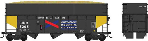 60217 Bowser / Chattahoochee Industrial  #5205   70 Ton Offset Wood Chip w-Smooth extension (Scale=HO) YANKEEDABBLER Part # 6-60217