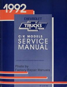 1992 Chevrolet Trucks C/K Models Service Manual