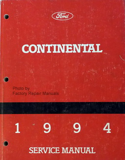 Ford Continental 1994 Service Manual