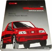1993 Geo Tracker Service Manual
