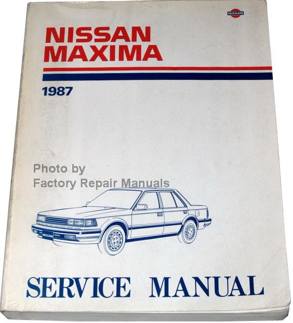 1987 nissan maxima factory service manual original shop 2006 Nissan Maxima Service Manual 2012 Nissan Rogue Manual