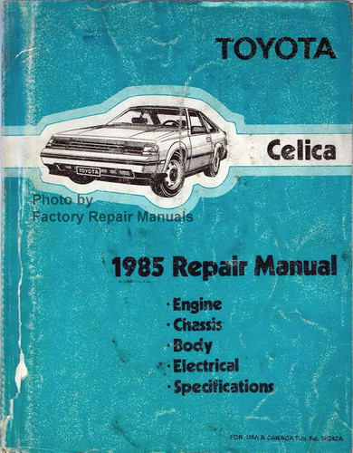 1985 toyota celica factory service manual original shop