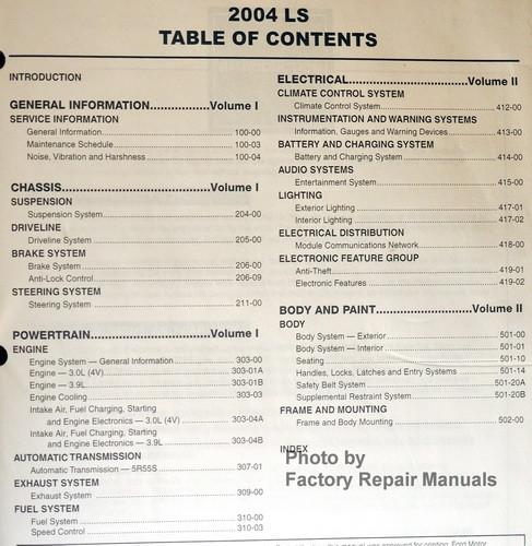 2004 lincoln ls factory service manual set original shop lincoln ls workshop manual pdf lincoln ls workshop manual pdf