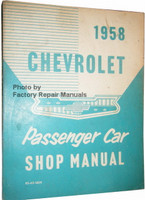 1958 Chevrolet Passenger Car Shop Manual