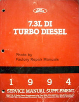 1994 Ford 7.3L DI Turbo Diesel Service Manual Supplement