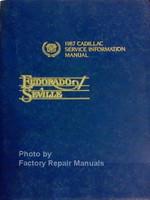1987 Cadillac Service Information Manual Eldorado and Seville