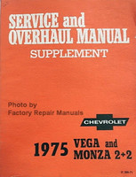 chevy service manuals original shop books factory repair manuals service and overhaul manual supplement 1975 chevrolet vega and monza 2 2