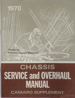 1970 Chevy Camaro Service and Overhaul Manual Supplement