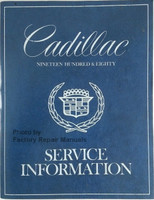 Cadillac 1980 Service Information