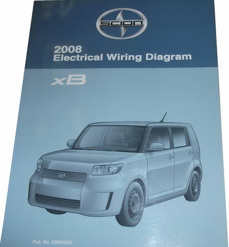 2008 scion xb electrical wiring diagrams original toyota manual factory repair manuals