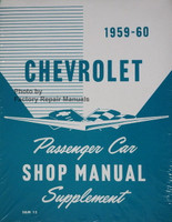 1959 1960 Chevrolet Passenger Car Shop Manual Supplement