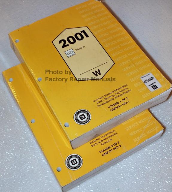 2001 oldsmobile intrigue factory service manual set. Black Bedroom Furniture Sets. Home Design Ideas