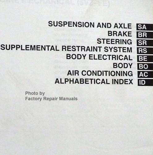 2001 Toyota Tundra Factory Shop Service Repair Manual Set