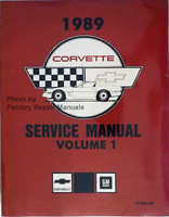 1989 Chevrolet Corvette Service Manual Reprint Volume 1 and 2