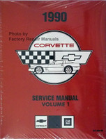 1990 Chevrolet Corvette Service Manuals Reprint Volume 1 and 2