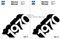 Plymouth Service Manual Belvedere, Fury, Barracuda, Valiant 1970 Volume 1 and 2