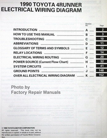 1990 toyota 4runner electrical wiring diagrams manual 1988 toyota truck & 4runner electrical wiring diagram manual toyota 4runner power window wiring diagram
