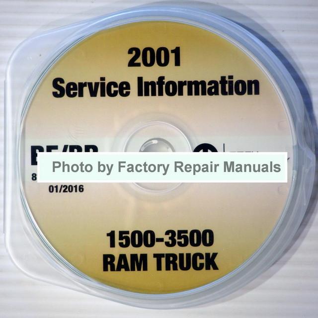 2001 dodge ram truck factory service manual cd 1500 2500. Black Bedroom Furniture Sets. Home Design Ideas