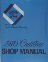 1970 Cadillac Calais DeVille Eldorado Fleetwood Factory Shop Service Manual Reprint