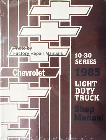 1985 Chevrolet Celebrity Service Repair Manuals on Motor Era