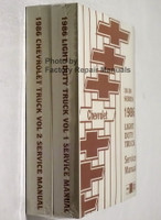 Chevrolet 10-30 Series 1985 Light Duty Truck Shop Manual Spine View