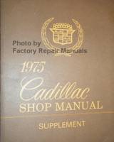 1974 Cadillac Shop Manual Supplement