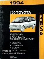 1994 Toyota Previa Repair Manual Supplement