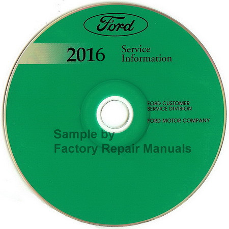 2016 Ford F53 Motorhome F59 Factory Service Manual Cd