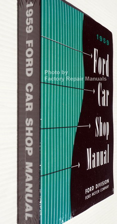 1959 Ford Car Shop Manual Spine View