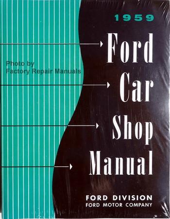 1959 Ford Car Shop Manual