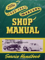 1932 - 1941 Ford Mercury Car Truck Shop Manual