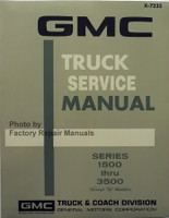1972 GMC Truck Service Manual Series 1500 thru 3500 Except G Models