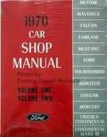 1970 Ford Lincoln Mercury Car Shop Manual Volume 1, 2, 3, 4, 5