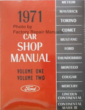 1971 Ford Lincoln Mercury Car Shop Manual Volume 1, 2, 3, 4, 5