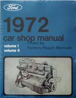 1972 Ford Lincoln Mercury Car Shop Manual Volume 1, 2, 3, 4, 5