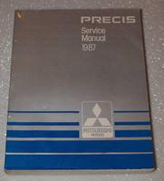 1987 Mitsubishi Precis LS Hatchback Factory Service Manual Original Shop Repair