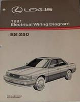 1991 LEXUS ES250 Electrical Wiring Diagrams Original Factory Manual