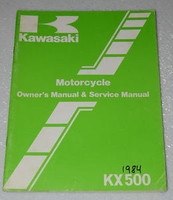 1984 Kawasaki KX500-A2 Owners Service Manual KX 500 Original Factory Shop Repair